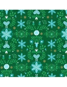 31320-60 - Lecien L's Modern Magical Winter Time! - Cotone Stampato Giapponese
