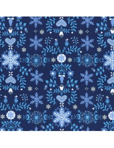 31320-71 - Lecien L's Modern Magical Winter Time! - Cotone Stampato Giapponese