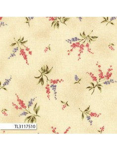 31175-10 - Lecien Mrs March's in Antique - Cotone Stampato Giapponese