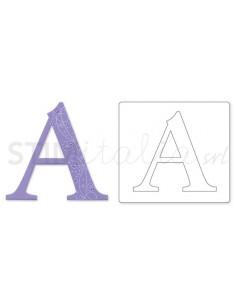 "Bigz Alphabet Uppercase Die - Sassy Serif Letter ""A"" by E.L. Smith"