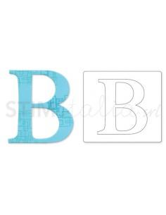 """Bigz Alphabet Uppercase Die - Sassy Serif Letter """"B"""" by E.L. Smith"""