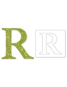 """Bigz Alphabet Uppercase Die - Sassy Serif Letter """"R"""" by E.L. Smith"""