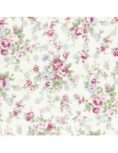 31265-90 - Lecien Princess Rose - Cotone Stampato Giapponese