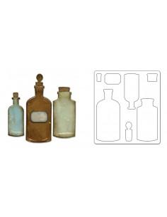 Bigz Die - Apothecary Bottles by Tim Holtz