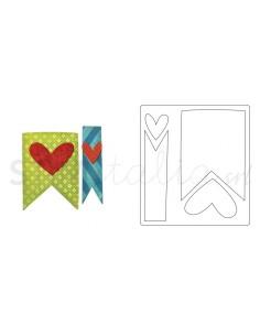Bigz Die Banners & Hearts...