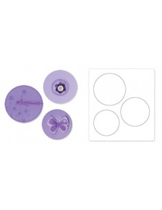 "Bigz Die - Circles 2"", 2 1/4"" e 2 1/2"" (5,10cm, 5,70cm e 6,35cm)"
