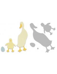 Bigz Die Duck and Duckling