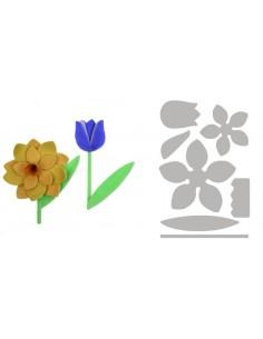 Bigz L Die Spring Flowers