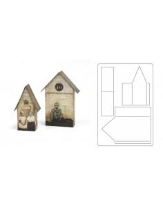 Bigz L Die Tiny Houses by Tim Holtz