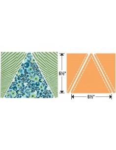 """Bigz Plus Q Die - Triangles, Isosceles & Right 6 1/2"""""""