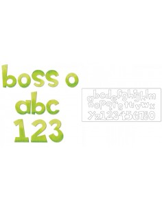 """Bigz XL Alphabet Die - Boss-O! 1 1/2"""" Lowercase Letters & Numbers"""