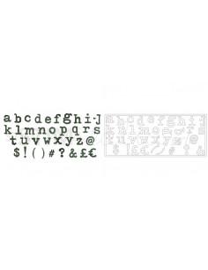 Bigz XL Alphabet Die Typo Lower by Tim Holtz