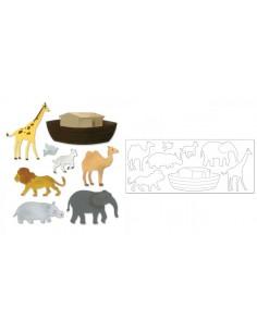 Bigz XL Die - Noah's Ark w/Animals