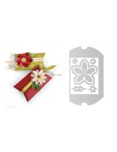 Thinlits Die Set 7PK Box, Pillow & Poinsettias by Jen Long