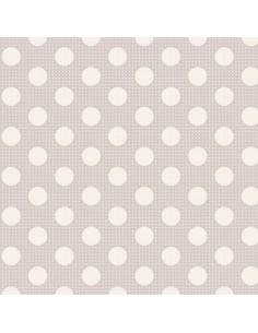 Tilda Tessuto 110 Basic Medium Dots, Pois Grigio Chiaro