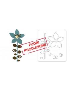 Bigz Die - Flower, Leaves & Stem 4 by Basic Grey