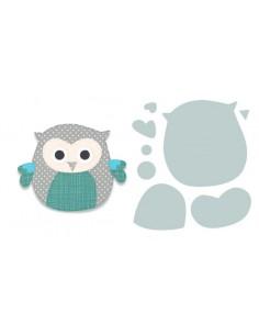 Bigz Die Owl n8 by Debi Potter