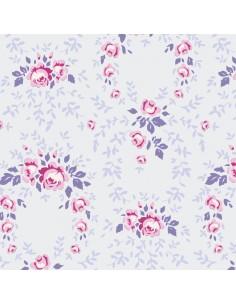 Tilda 110 Old Rose Lucy, Tessuto Rose su Lavanda Polvere