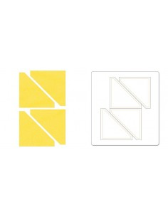 "Bigz Die - Half-Square Triangles, 2 1/2"" Finished Square (cm 6,35)"