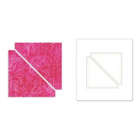 "Bigz Die - Half-Square Triangles, 3"" Finished Square (cm 7,62)"