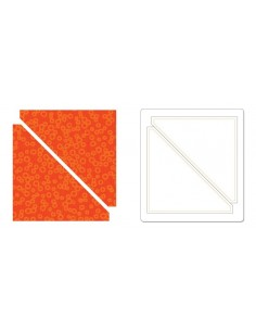 "Bigz Die - Half-Square Triangles, 4"" Finished Square"