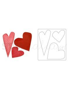 Bigz Die - Hearts 4 by Stephanie Ackerman