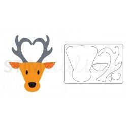 Bigz L Die Reindeer Head