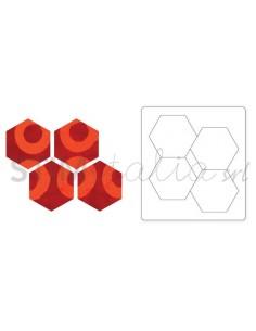 "Bigz Die Hexagons, 1 1/4""..."