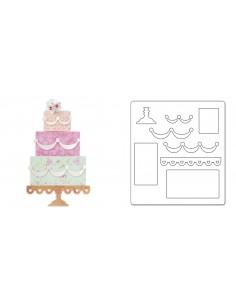 Bigz Die - Layered Cake by Brenda Walton