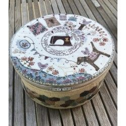 Stitching Circle Basket -...