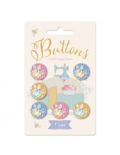 Tilda Happy Campers Buttons 17mm - 6 Buttons