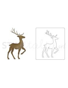 Bigz Die - Prancing Deer by Tim Holtz