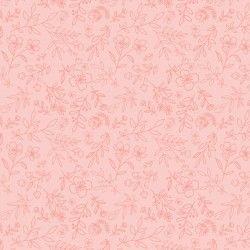 DAISY MAE, Daisy Mae - Tessuto Fiorellini Rosa Su Fondo Rosa