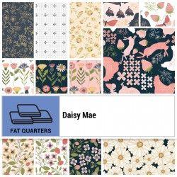 DAISY MAE, Fat Quarter - 21 Tagli Di Tessuto Da 18 X 22 Pollici