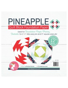 Pineapple da 12 pollici - Blocco Quilt per Foundation Paper Piecing