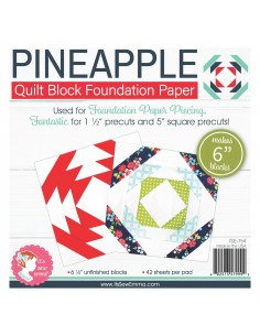 Pineapple da 6 pollici - Blocco Quilt per Foundation Paper Piecing