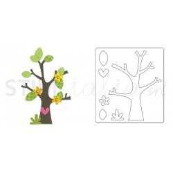 Bigz Die - Tree w/Flower, Heart & Leaves by doodlebug design inc.™