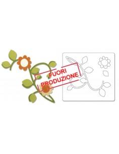 Bigz Die - Vine w/Leaves & Flower by Basic Grey