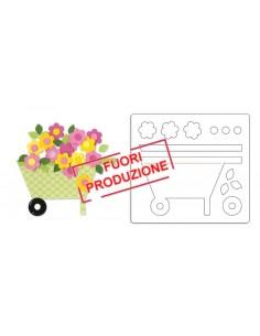 Bigz Die - Wheelbarrow & Flowers by Dena Designs
