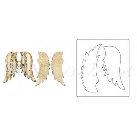 Bigz Die - Wings, Angel by Rachael Bright