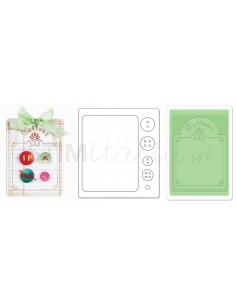 Bigz Die w/Bonus Textured Impressions - Button Card by Jen Long-Philipsen
