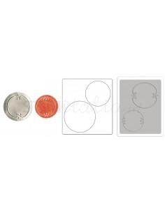 Bigz Die w/Bonus Textured Impressions - Jar Lids by Jen Long_WWC
