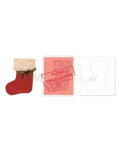 Bigz Die w/Bonus Textured Impressions - Stocking by Beth Reames