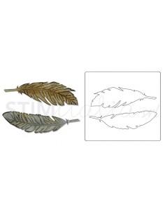 Bigz Die w/Texture Fades Feather Duo by Tim Holtz