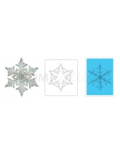 Bigz Die w/Texture Fades - Layered Snowflake