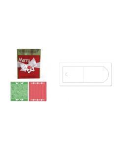 Bigz Die XL w/Bonus Textured Impressions Embossing Folders - Card, A2 w/Flap and Hol