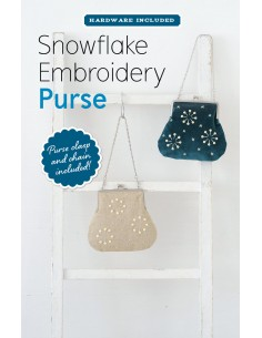 Snowflake Embroidery Purse