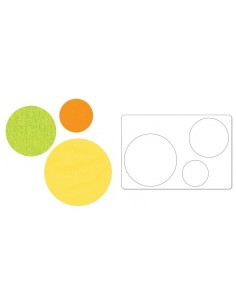 "Bigz L Die - Circles, 2"", 3"" & 4"" (cm. 5,08, 7,62 e 10,16)"