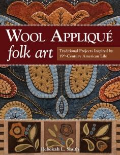 Wool Applique Folk Art,...