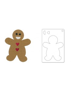 """Bigz L Die - Gingerbread Man by Rachael Bright - """"old 658103"""""""